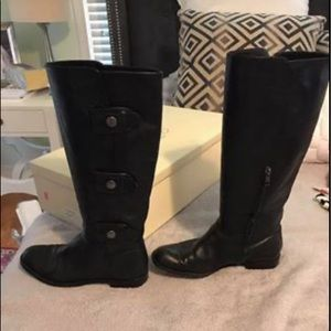 COACH black boots with buttons size 7.5